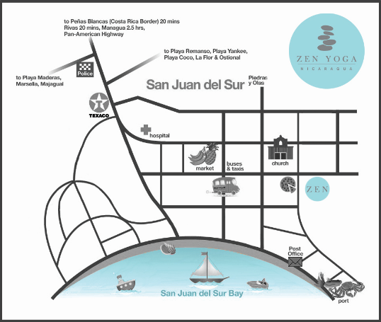 In Town Zen Studio Map - Nicaragua Yoga Institute